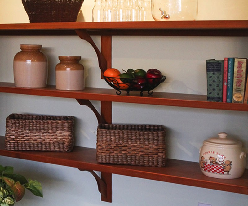 Big island custom shelving